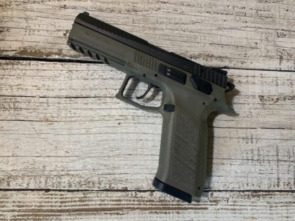 The CZ-USA P-09 is a deadly accurate, uber dependable full-sized 9mm with an ambidextrous decocker and factory night sights standard.