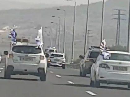 Israel Trump Parade (Deborah Danan / Breitbart News)