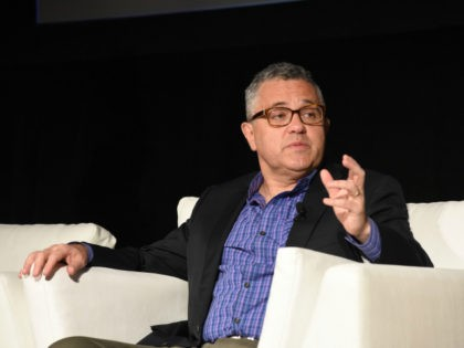 "Author Jeffrey Toobin speaks at the ""Books to Screen"" symposium at the 27th Annual Palm Springs International Film Festival on January 7, 2016 in Palm Springs, California. (Photo by Vivien Killilea/Getty Images for PSIFF)"