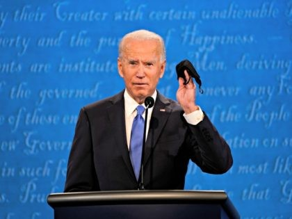 Joe Biden Walks Out, Removes Face Mask at Debate