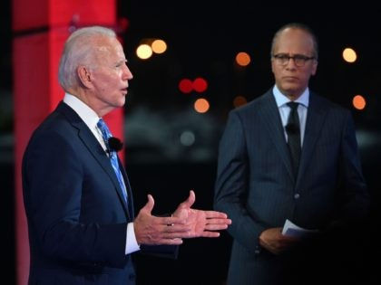 Joe Biden and Lester Holt (Roberto Schmidt / Getty)