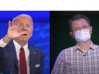 Joe Biden and Questioner Nathan Osburn