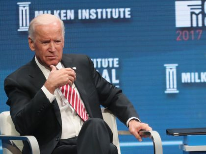 Joe Biden at Milken Conference (Frederick M. Brown / Getty)