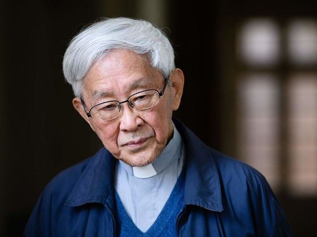 In this picture taken on March 5, 2018, Cardinal Joseph Zen, 86, former Bishop of Hong Kong, listens to a question during an interview with AFP in Hong Kong. Hong Kong Cardinal Joseph Zen has earned a reputation as a fighter -- the octogenarian's latest battle pits him against Vatican …