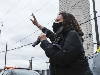 Kamala Harris in Cleveland (Matthew Hatcher / Getty)