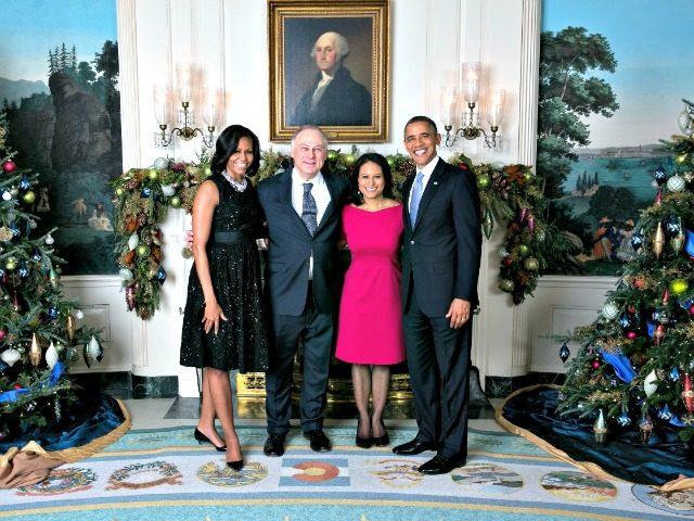 Kristen Welker at Obama White House
