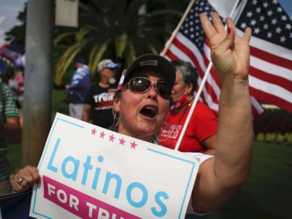 Latinos for Trump (Marco Bello / AFP / Getty)