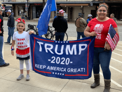 Leticia Stevenson and Daughter at Fort Worth Trump Rally