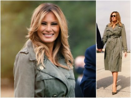 Fashion Notes: Melania Trump Hits the Campaign Trail in Michael Kors Trench