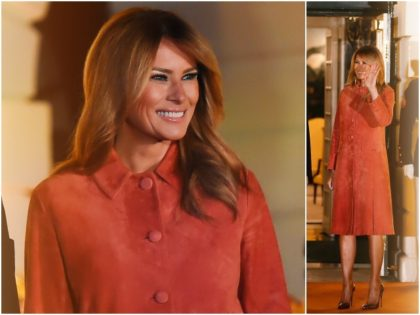 Fashion Notes: Melania Trump Celebrates Halloween at the White House in Prada Suede