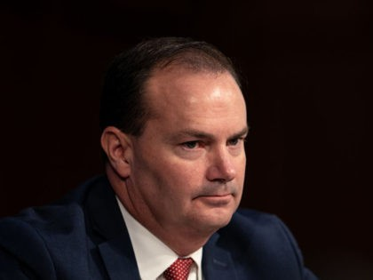 WASHINGTON, DC - OCTOBER 12: U.S. Sen. Mike Lee (R-UT) listens during Supreme Court Justice nominee Judge Amy Coney Barrett's Senate Judiciary Committee confirmation hearing for Supreme Court Justice in the Hart Senate Office Building on October 12, 2020 in Washington, DC. With less than a month until the presidential …