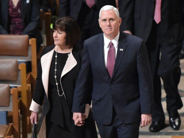 Mike Pence and Karen Pence (Mandel Ngan / AFP / Getty)