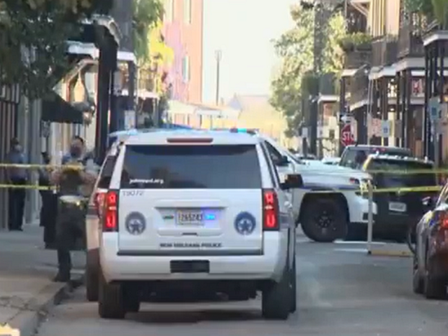 Two New Orleans police officers ambushed on Friday afternoon in the French Quarter. (Twitter Video Screenshot)