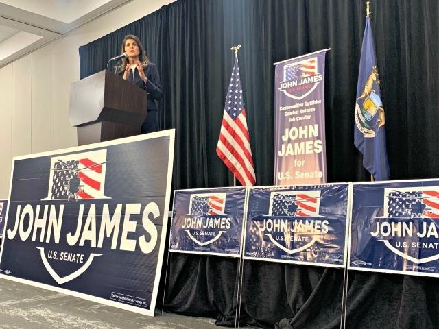 Michigan: Nikki Haley Stumps for John James in Hot Senate Race