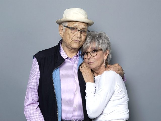 "Executive producer Norman Lear, left, and Rita Moreno, cast member of the Netflix series ""One Day at a Time"" pose for a photo during the Netflix portrait session at Television Critics Association Summer Press Tour at The Beverly Hilton hotel on Sunday, July 29, 2018, in Beverly Hills, Calif. (Photo …"