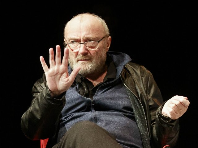 Great Britain's singer Phil Collins attends a round table with students of the University of Music and Performing Arts Graz on May 22, 2019 in Graz. - Phil Collins will receive a honorary doctorate of the University. (Photo by ERWIN SCHERIAU / APA / AFP) / Austria OUT (Photo credit …