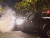 WATCH: Shots Fired After SUV Rammed by Antifa Truck Protest