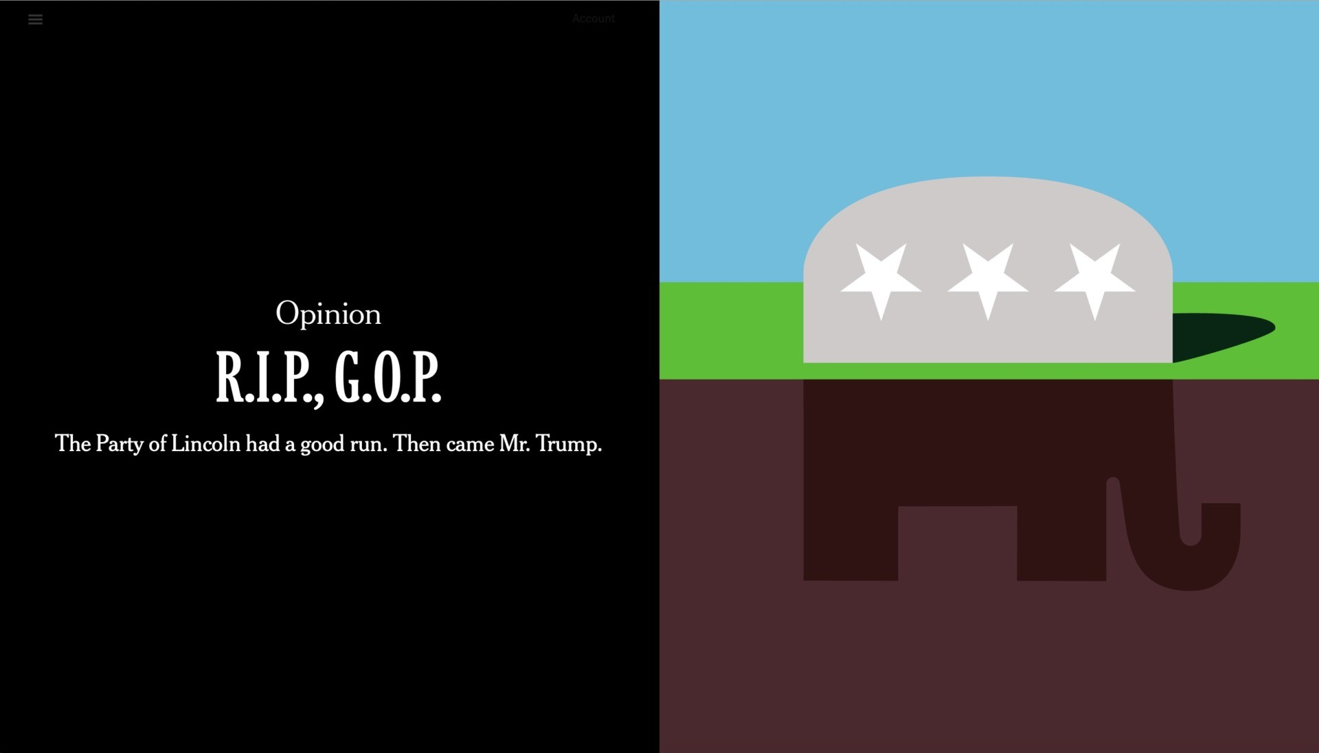 R.I.P., G.O.P.': New York Times Declares Republican Party Will Die with  Trump's Defeat