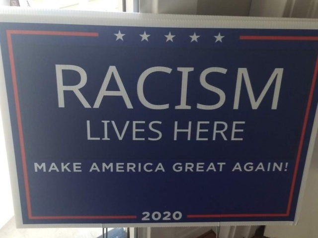 Racism Lives Here (Courtesy Beth Slanie)