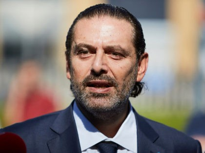 THE HAGUE, NETHERLANDS - AUGUST 18: Former Prime Minister Saad Hariri gives a statement to the press outside the Lebanon Tribunal on August 18, 2020 in The Hague, Netherlands. The Special Tribunal for Lebanon delivered a guilty verdict against one of four men on trial for the 2005 assassination of …