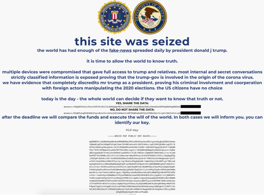 Donald Trump Campaign Website hacked