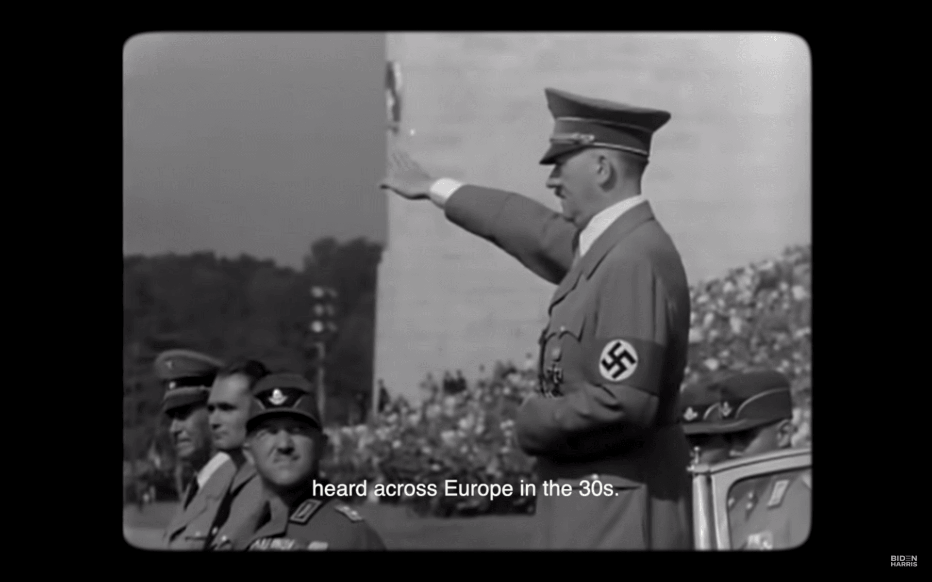 Hitler in Biden/Harris video (Screenshot / YouTube)