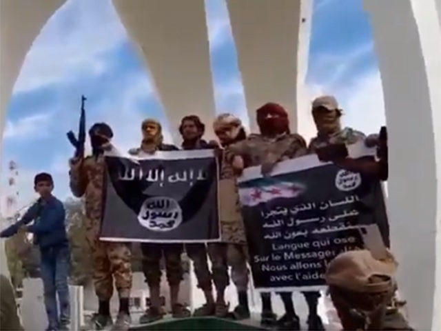 Syria ISIS flag protest