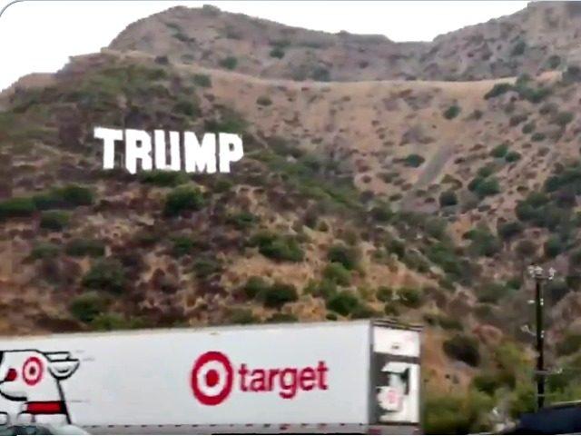 Trump Sign on 405 Freeway, CA