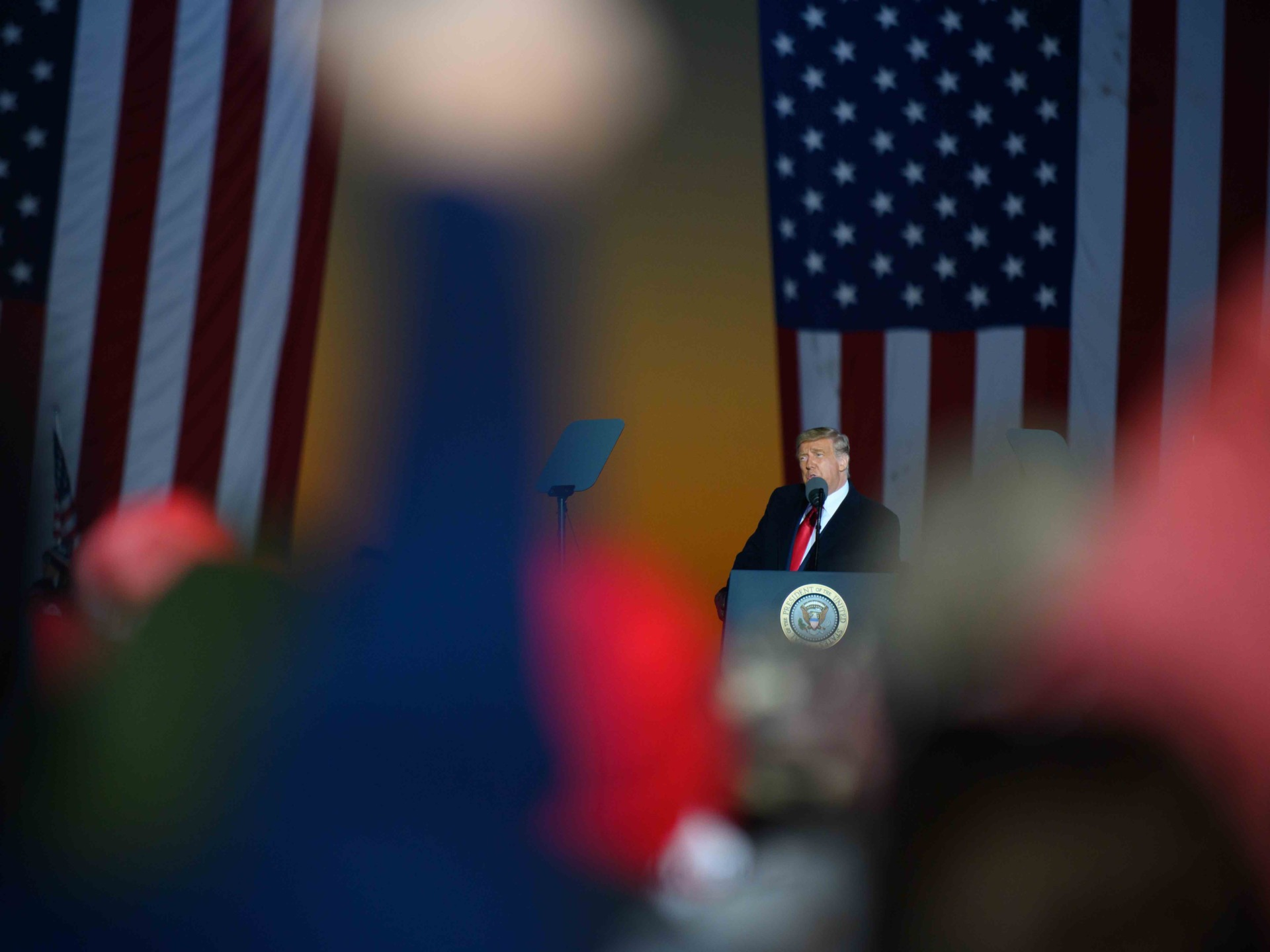 Trump addresses Butler (Jeff Swensen / Getty)