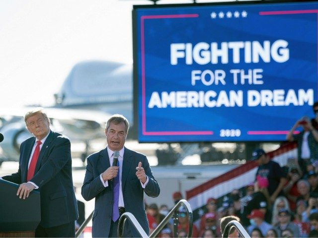 Farage Praises Trump as 'Bravest Person' He'd Ever Met, Who Stands Up for Patriotism, Against Globalism