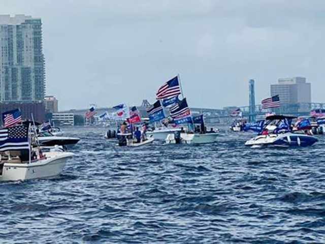 Photos: 75,000-Car MAGA Parade in Miami; Hundreds of 'Cray Sea for Trump' MAGA Boaters in Jacksonville