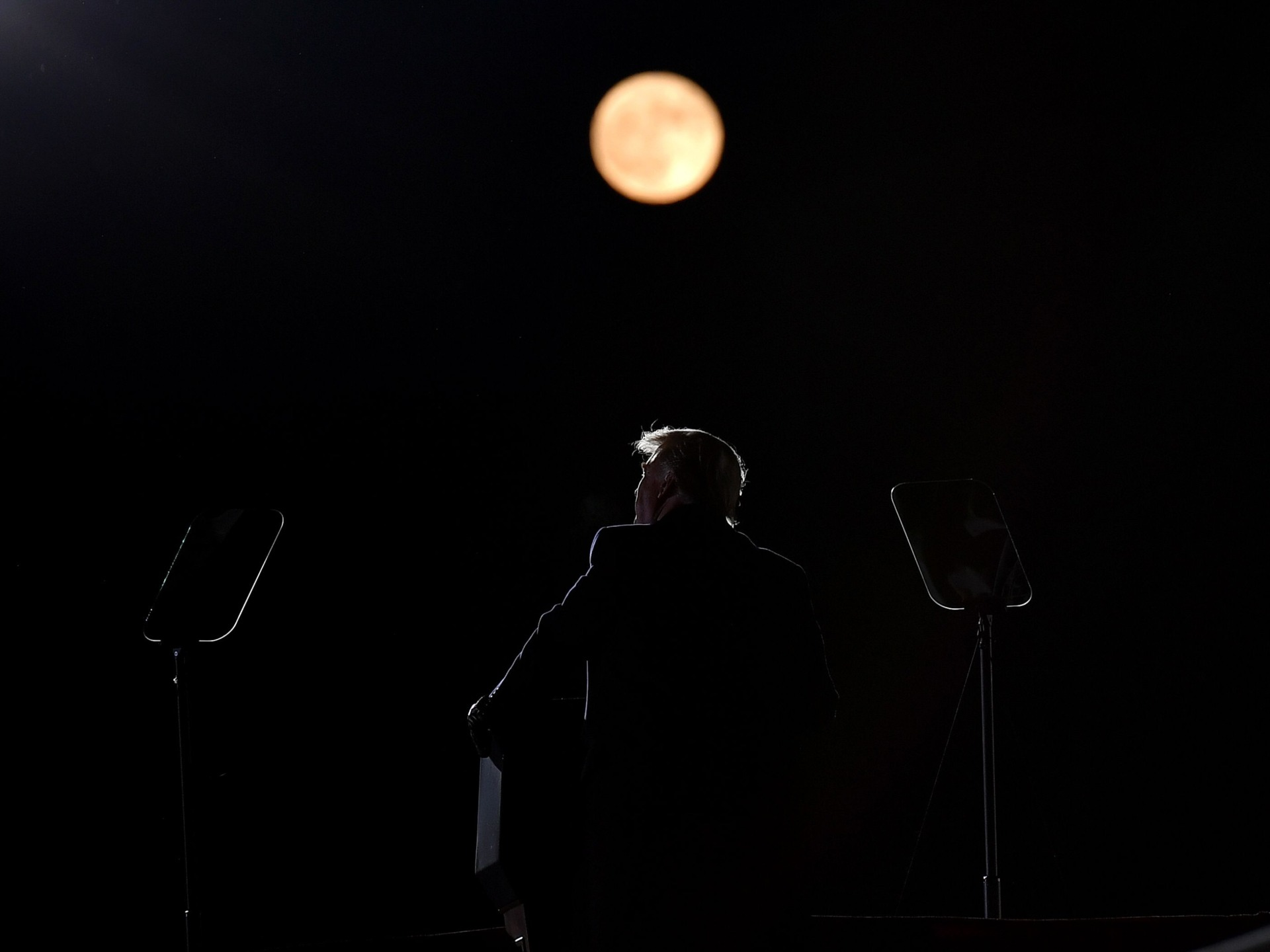 Trump full moon Pennsylvania (Mandel Ngan / Getty)