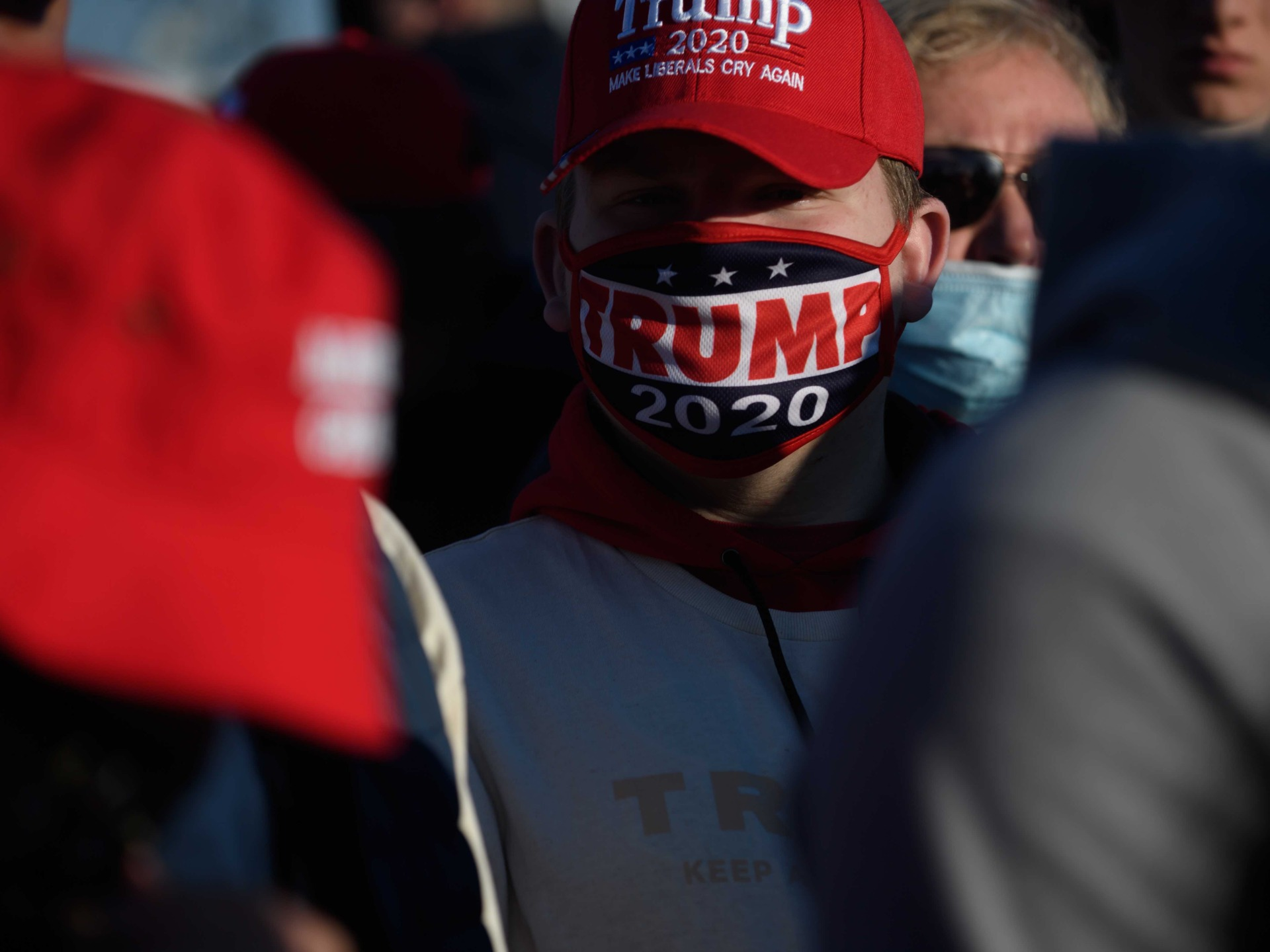 Trump supporter at Butler (Jeff Swensen / Getty)
