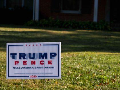 Trump yard sign (Jon Cherry / Getty)