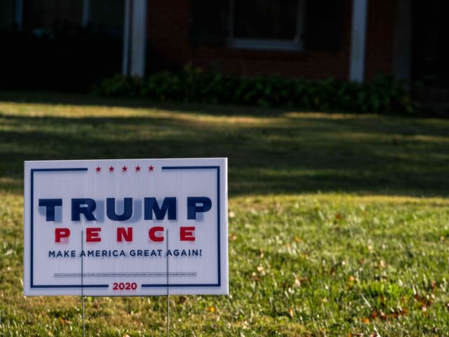 Trump yard sign (Jon Cherry / Getty)