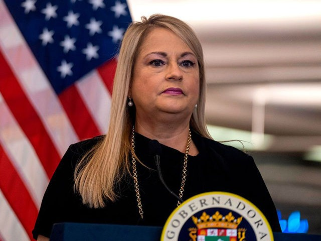 Puerto Rico Governor Wanda Vazquez Garced speaks during a press conference to announce strict new rules for all passengers flying into Puerto Rico to curb coronavirus cases in San Juan, Puerto Rico, on June 30, 2020. (Photo by Ricardo ARDUENGO / AFP) (Photo by RICARDO ARDUENGO/AFP via Getty Images)