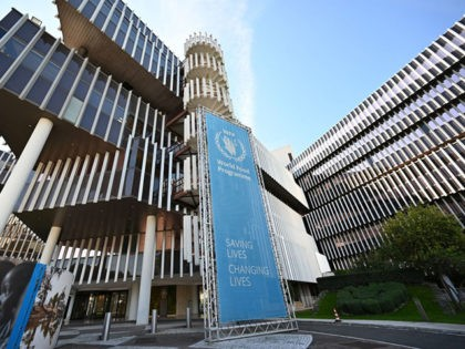 """This general view shows the exterior of The World Food Programme (WFP) headquarters in Rome on October 9, 2020, after the announcement that the organisation had been awarded the Nobel Peace Prize. - World Food Programme chief David Beasley said that the UN agency was """"deeply humbled"""" by winning the …"""