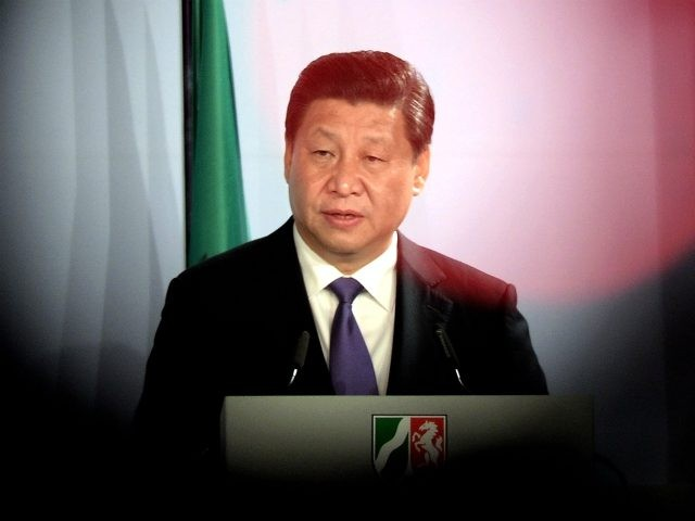 DUSSELDORF, GERMANY - MARCH 29: Chinese President Xi Jinping speaks at a reception in his honour on March 29, 2014 in Dusseldorf, Germany. President Xi Jinping is visiting the western German state of North Rhine-Westphalia after meeting with German leaders in Berlin the day before. Earlier in the day he …