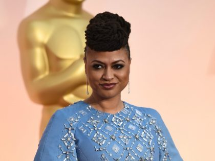 Ava DuVernay arrives at the Oscars on Sunday, Feb. 22, 2015, at the Dolby Theatre in Los Angeles. (Photo by Jordan Strauss/Invision/AP)