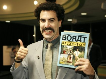 "LOS ANGELS - NOVEMBER 7: Borat Sagdiyev, played by actor Saha Baron Cohen, attends a book signing for his new book ""BORAT: Touristic Guidings to Minor Nation of U.S. and A. and Touristic Guidings to Glorious Nation of Kazakhstan"" at Borders on November 7, 2007 in Los Angeles, California. (Photo …"