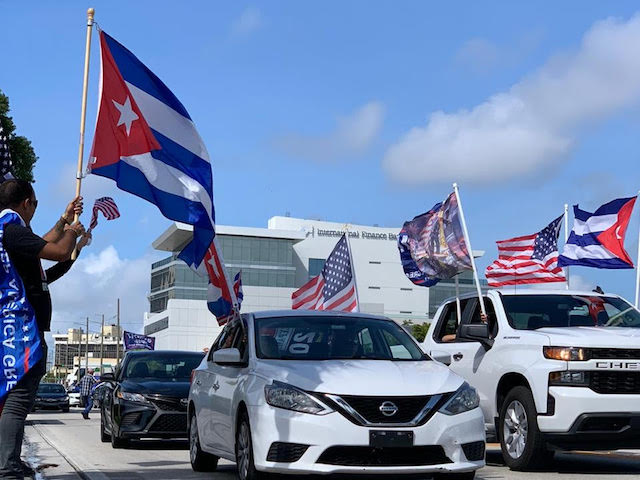 Caravan against socialism and communism in Miami, Florida, October 10, 2020.