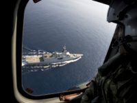 Units of the French Naval Force frigate La Fayette and the Cypriot search and rescue (SAR) take part in a joint execrcise simulating marine accidents off the coast of the Cypriot city of Larnaca on November 19, 2015. The main objective of the aeronautical excercise is to promote units capable …