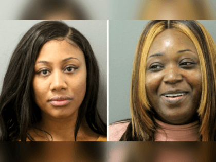 Tiana Trammell, left, and Tjwana Rainey, both of Milwaukee, are accused of drugging 10 men who were partying in River North and then robbing them. (Chicago Police Department)