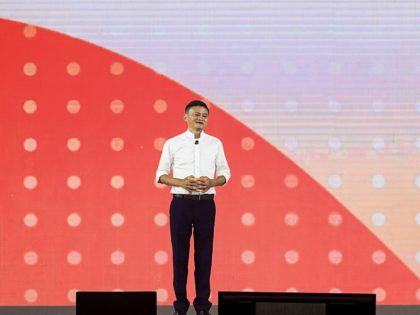 Jack Ma, chairman of Alibaba group, speaks during an event to mark the 20th anniversary of Alibaba in Hangzhou in China's eastern Zhejiang province. - Jack Ma steps aside on September 10 as chairman of Alibaba, ending a spectacularly successful 20-year run during which the charismatic former English teacher's e-commerce …