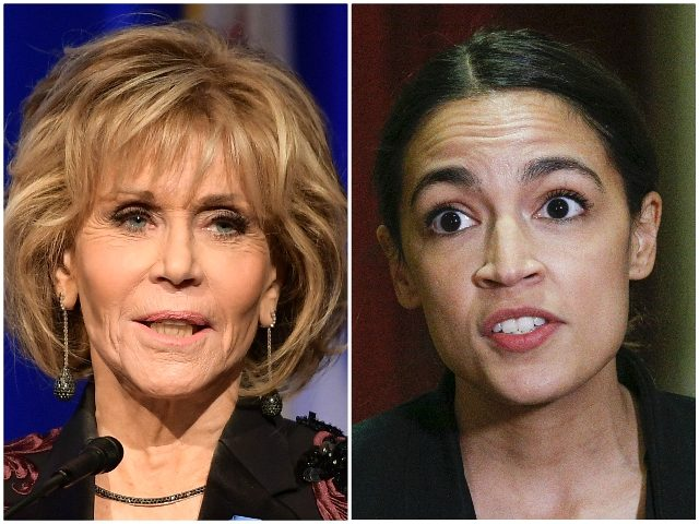 Jane Fonda and AOC Deal With Being 'Vilified by Presidents' … Together