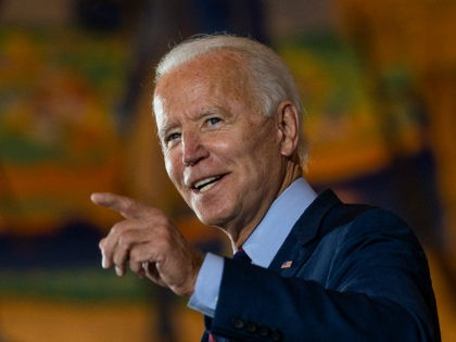 Democratic presidential candidate former Vice President Joe Biden speaks at Cincinnati Museum Center at Union Terminal in Cincinnati, Monday, Oct. 12, 2020. (AP Photo/Carolyn Kaster)