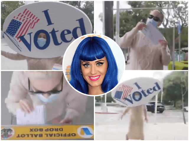 Katy Perry Pushes Fans to Vote Early in Bizarre Video: 'Do It for the Sticker, and Democracy'