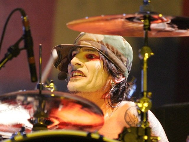 NEW YORK - MARCH 3: Drummer Tommy Lee of Motley Crue performs live at Madison Square Garden on March 3, 2005 in New York City. (Photo by Peter Kramer/Getty Images)
