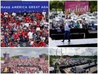 Dueling Florida Rallies: 'Thousands' Gather for President Trump, Joe Biden Draws 'Hundreds'