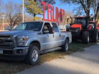 Iowa Trump Supporters Hold Trump Tractor Parade